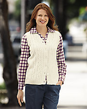 Cable Sweater Vest