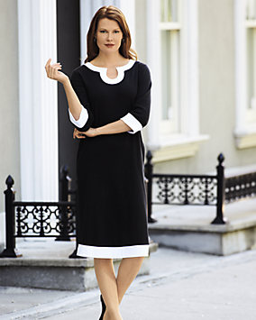 UltraSofts® Contrast Trim Dress