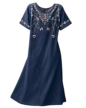 Floral Denim Dress