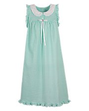 Lace Collar Nightgown