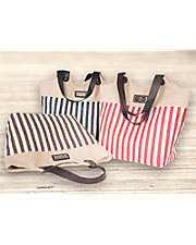 Striped Scoop Tote