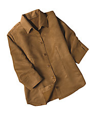 Poly Suede Shirt