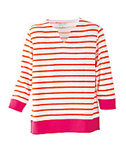 UltraSofts® Colorblock Stripe Tee