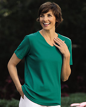 Ultrasofts® Lightweight V-Neck Tee