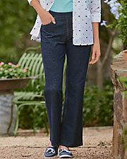 5-Pocket Denim Knit Pants