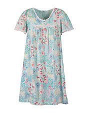 Crinkle Floral Nightgown