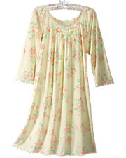 Floral Knit Nightgown