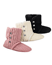Dearfoams® Sweater Knit Booties