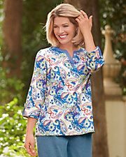 Ultrasofts® Paisley Tunic