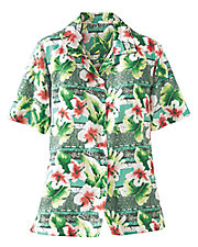 Printed Tropical Campshirt