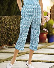 Ultrasofts® Printed Crop Pants