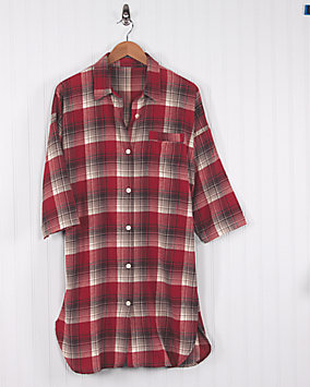 Plaid Flannel Nightshirt