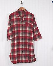 Plaid Flannel Nightshirt