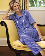 Embroidered Ruffle Trim PJ