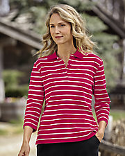 Ultrasofts® Striped Polo