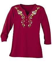Ultrasofts® Embroidered Top