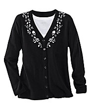 Embroidered Touch of Heaven Cardigan