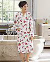 Short Floral Quilted Robe