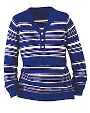 Striped Henley Sweater