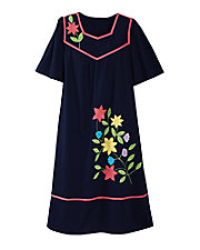 Woven Applique Dress
