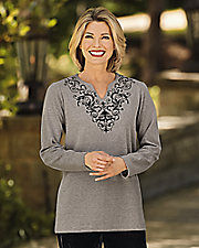 UltraSofts® Flocked Knit Tunic