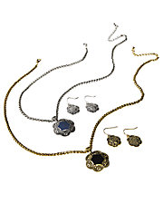 Medallion Necklace & Earring Set