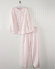 Brushed Back Satin Jacquard Pajamas
