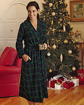 Flannel Wrap Robe