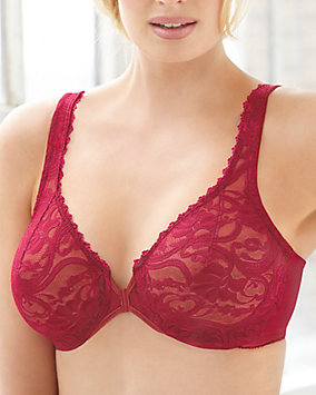Front Snap Stretch Lace Wonderwire Bra