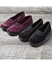Waltz Quilted Plush Velour Slippers