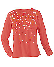 UltraSofts® Print Polka Dot Top