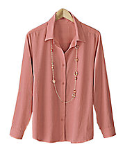 Coral Chambray Blouse