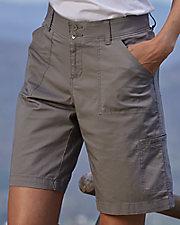 Twill Parker Cargo Bermuda Shorts