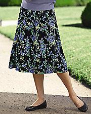 Challis Floral Print Skirt