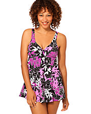Exotic Journey Bow Front Swim Dress