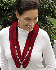 Winter Solstice Jewelry Scarf