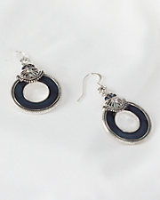 Midnight Blue Halo Earrings