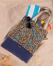 Paisley Beach Bag
