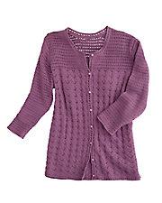 Lavender Crocheted Cardigan