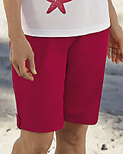 Crinkle Cotton Bermuda Shorts