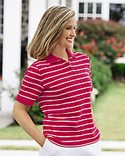 UltraSofts® Striped Short Sleeve Polo