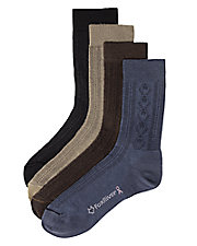 Paisley Pointelle Ultra-Spun Crew Sock