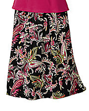 Patterned Challis Skirt