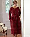 Flannel Button Front Dress