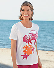 UltraSofts® Seashell Printed Tee