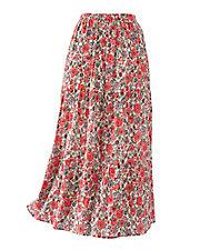 Crinkle Floral Print Skirt