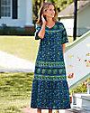Floral Flounce Cotton Dress