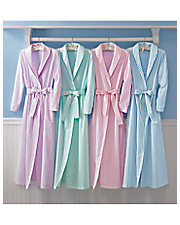 Flannel Striped Wrap Robe