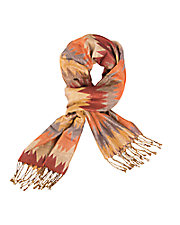 Multi Color Flame Zig Zag Scarf