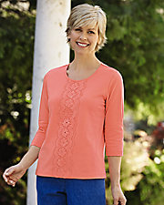 Touch of Comfort Lace Front Top